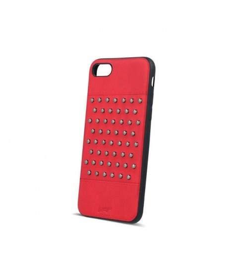 Coque cuir FASHION CLOU rouge pour iPhone 7 et iPhone 8