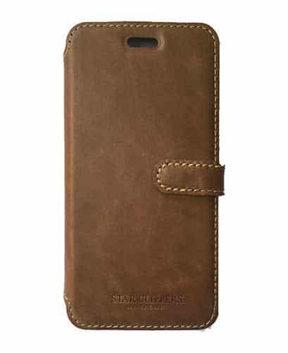 Etui portefeuille original STARCLIPPERS en rabattable marron pour iPhone 8 b6e722cec70e