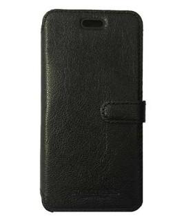 Etui portefeuille originale STARCLIPPERS en cuir noir pour iPhone 8+