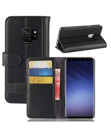 beauté braderie vente en ligne Etui portefeuille noir SAMSUNG GALAXY S9+