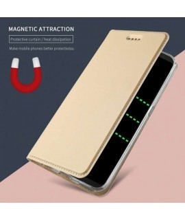 Etui portefeuille magnetique or SAMSUNG GALAXY S9+