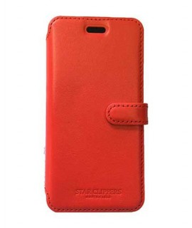 Etui portefeuille STARCLIPPERS rouge pour SAMSUNG GALAXY S8
