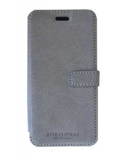 Etui portefeuille STARCLIPPERS gris pour SAMSUNG GALAXY S8+