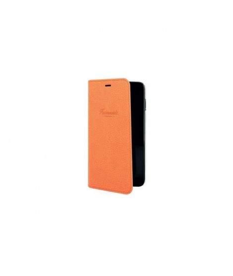 etui rabattable original orange faconnable iphone 8 plus