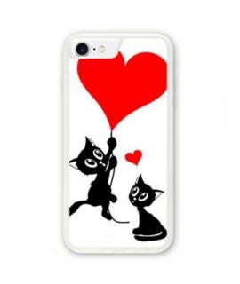 Coque souple LOVE CAT iPhone 8+