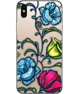 Coque silicone FLOWER 2  pour iPhone X