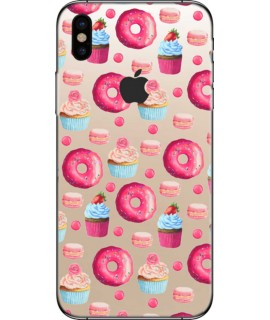 Coque silicone DONUTS  pour iPhone X
