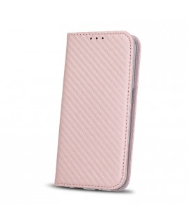 Etui portefeuille CARBONE ROSE Samsung Galaxy A8 2018