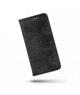 Etui portefeuille noir PAILETTES Samsung Galaxy S8