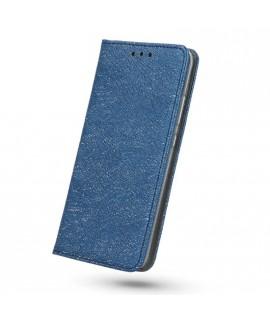 Etui portefeuille bleu marine paillettes iPhone X /XS