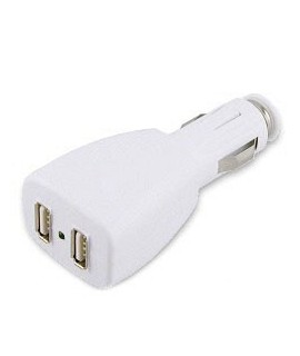 DOUBLE chargeur 12 volts allume cigare pour Iphone, Ipad et Ipod.