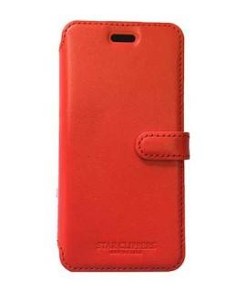 Etui portefeuille original STARCLIPPERS en cuir rouge pour iPhone XS