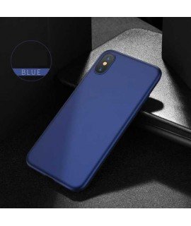 Coque SOFT TOUCH bleue iPhone XR