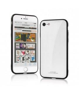Coque souple CASE GLASS WHITE en gel iPhone X