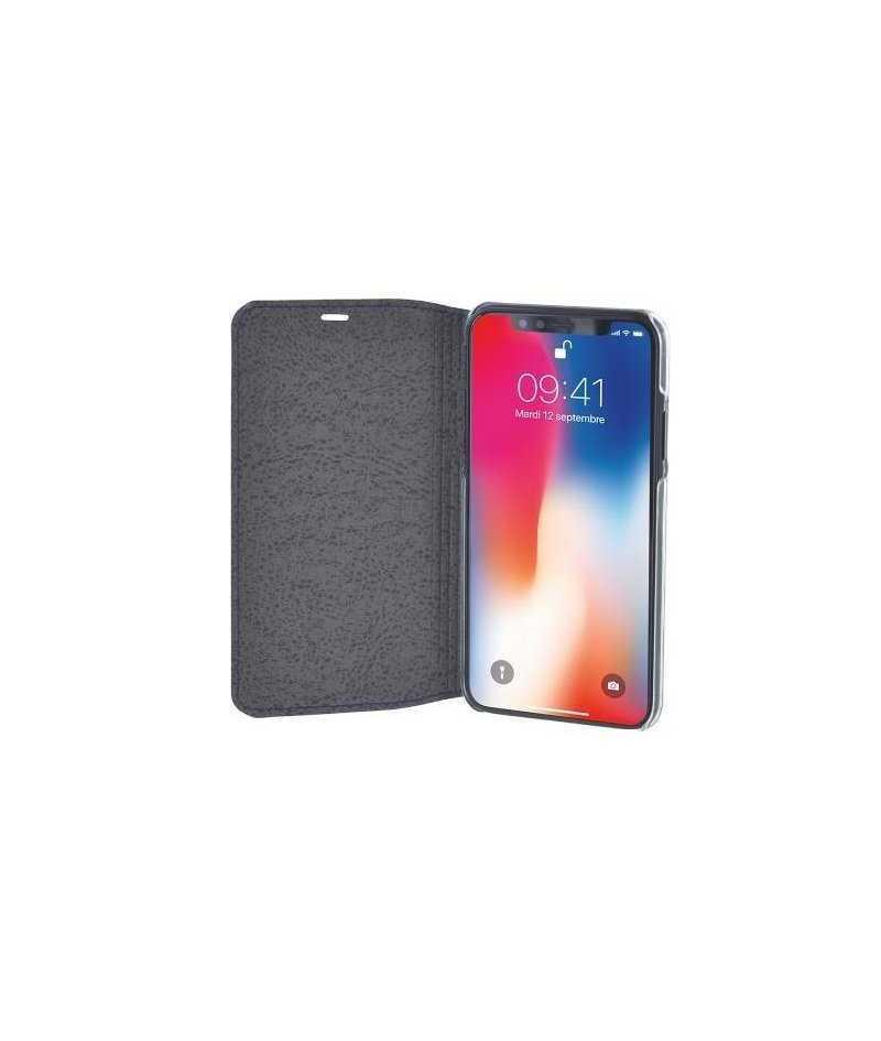 4cb0c11705c2cc Etui folio FACONNABLE iPhone X XS bleu marine French Riviera