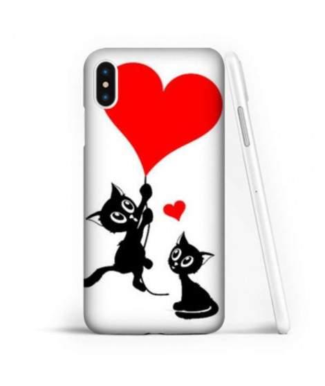 Coque souple LOVE CAT en gel iPhone X