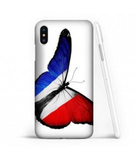 Coque souple PAPILLON FRANCAIS en gel iPhone X