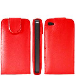 Etui cuir rouge pour Iphone 4 et 4S