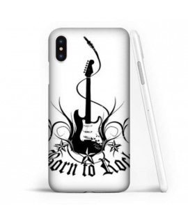 Coque souple BORN TO ROCK en gel iPhone XR