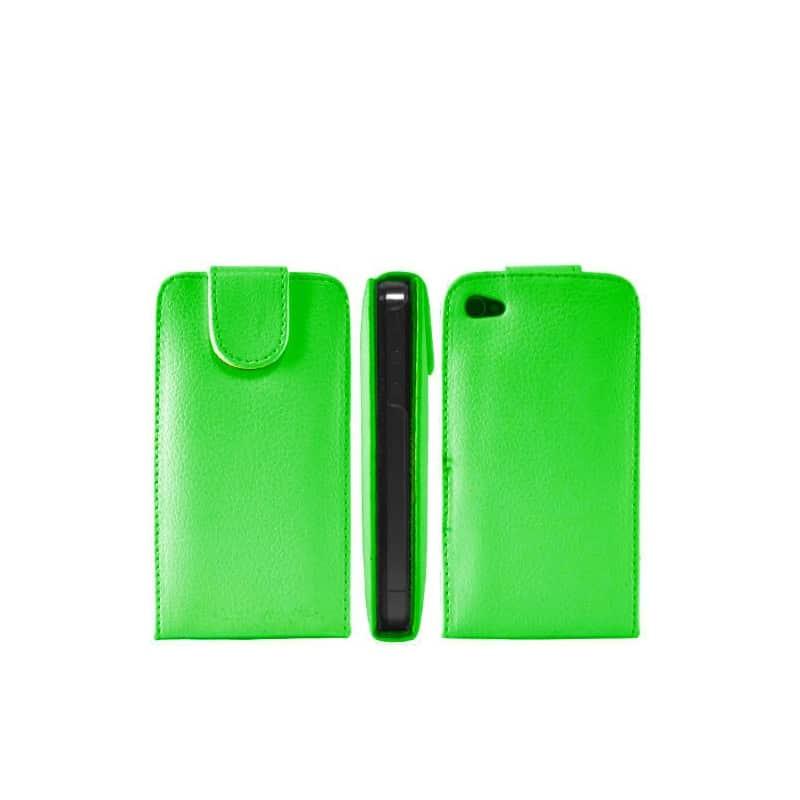 etui rabattable vert pour iphone 4. Black Bedroom Furniture Sets. Home Design Ideas