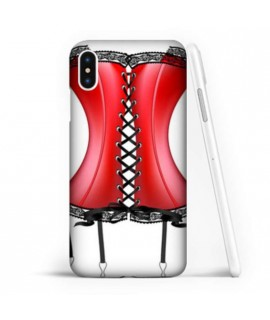 Coque souple CORSET ROUGE en gel iPhone XS