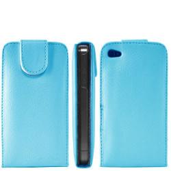 Etui cuir bleu pour Iphone 4 et 4S