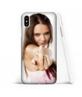 Coque souple FUCK en gel iPhone XR