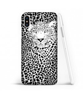 Coque souple LEOPARD BLACK en gel iPhone XR