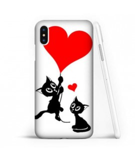 Coque souple LOVE CAT en gel iPhone XS