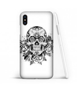 Coque souple SKULL AND ROSE en gel iPhone XR