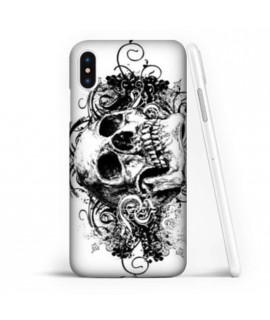 Coque souple SKULL BLACK en gel iPhone XS