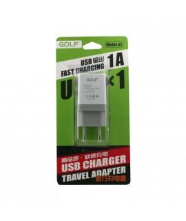 """Chargeur """"charge rapide"""" secteur 220V pour téléphones, tablettes ou lecteurs MP3"""