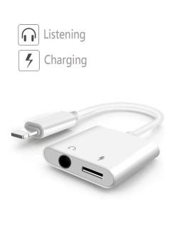 Adaptateur lightning chargeur et ecouteur jack 3.5
