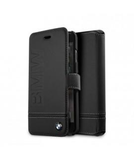 Etui portefeuille de la marque BMW noir pour iPhone 7 / 8