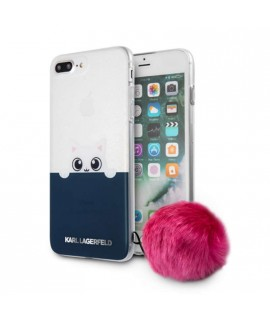Coque avec pompon rose Karl Lagerfeld pour iPhone 7 / 8