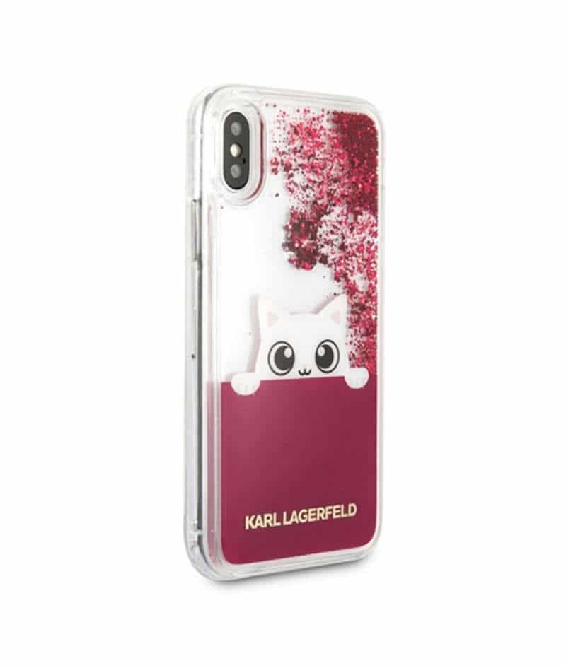 coque liquide karl lagerfeld pour iphone x xs