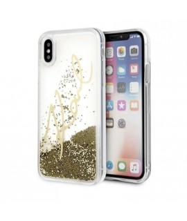 Coque liquide Karl Lagerfeld pour iPhone X / XS