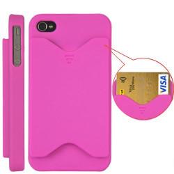 Coque carte de credit rose pour Iphone 4 et 4S