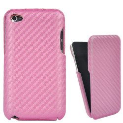 Coque INTEGRALE carbone rose pour IPOD TOUCH 4