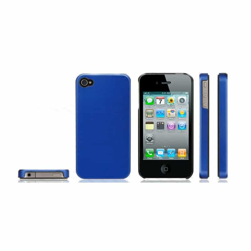 coque titanium bleue pour iphone 4 et 4s. Black Bedroom Furniture Sets. Home Design Ideas