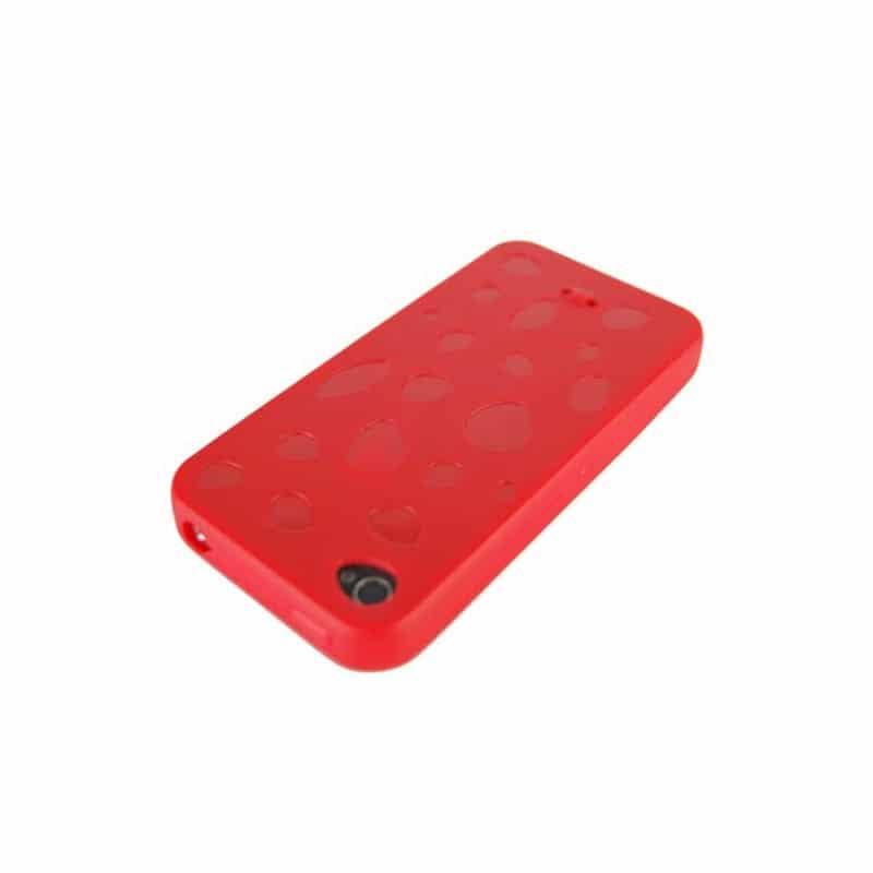 coque stone de couleur rouge pour iphone 4. Black Bedroom Furniture Sets. Home Design Ideas