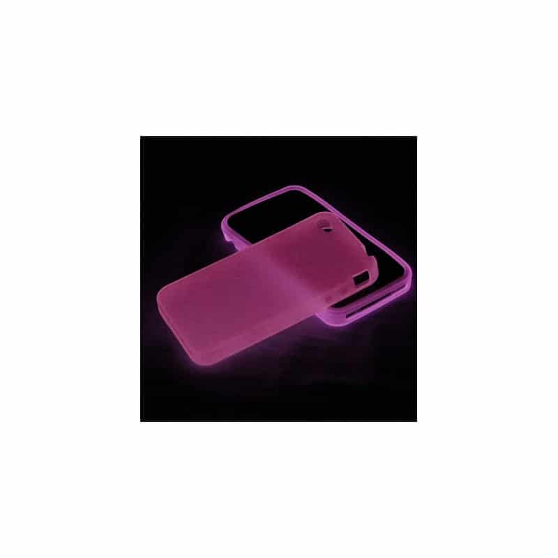 coque fluo de couleur rose pour iphone 4 et 4s. Black Bedroom Furniture Sets. Home Design Ideas