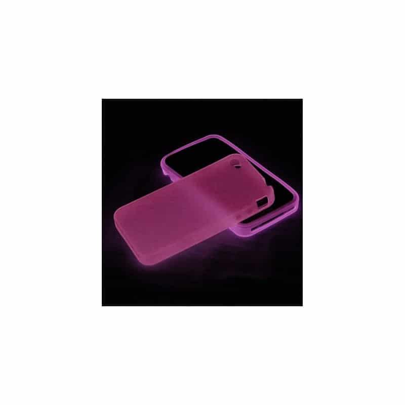 coque fluo de couleur rose pour iphone 4 et 4s. Black Bedroom Furniture Sets. Home Design Ideas