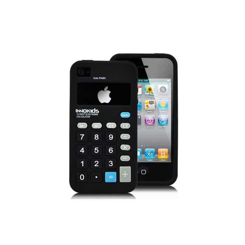 coque calculatrice noire pour iphone 4 et 4s. Black Bedroom Furniture Sets. Home Design Ideas