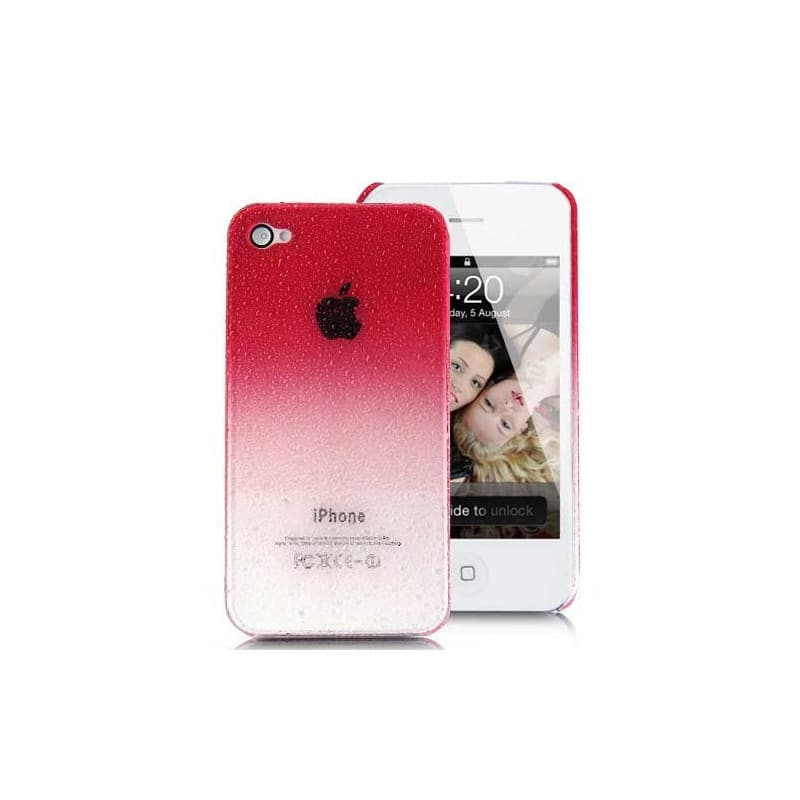 coque water rouge pour iphone 4 et 4s. Black Bedroom Furniture Sets. Home Design Ideas