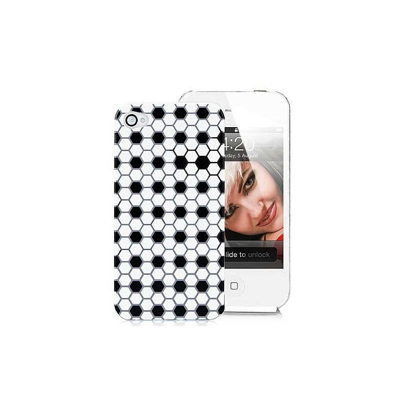 coque hexagone pour iphone 4 et 4s. Black Bedroom Furniture Sets. Home Design Ideas