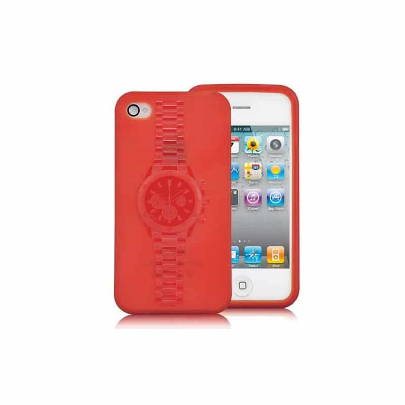 coque watch de couleur rouge pour iphone 4 et 4s. Black Bedroom Furniture Sets. Home Design Ideas