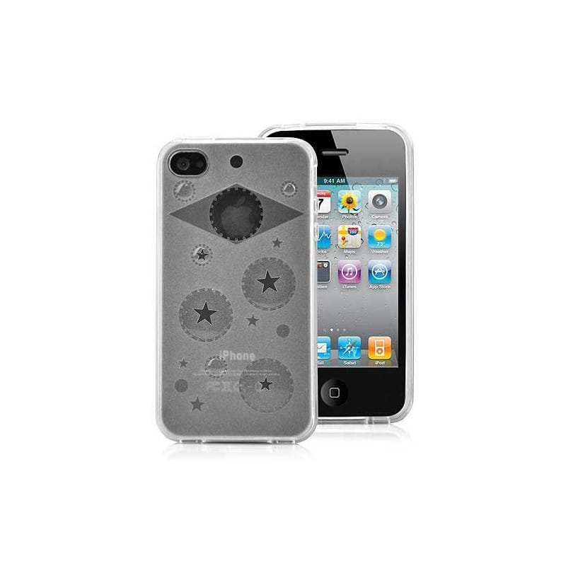 coque bulle blanche pour iphone 4. Black Bedroom Furniture Sets. Home Design Ideas