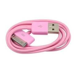 Câble USB rose pour Iphone, Ipad et Ipod .