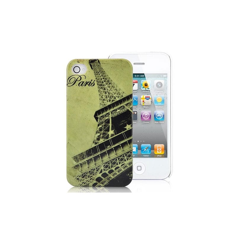 coque eiffel pour iphone 4 et 4s. Black Bedroom Furniture Sets. Home Design Ideas